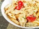 Рецепта Паста с чери домати и моцарела